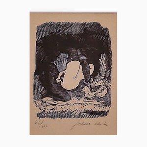 Erotic Scene - Original Woodcut by Mino Maccari - 1945 1945
