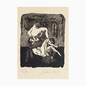 Erotic Scene - Original Woodcut by Mino Maccari - 1944 1944