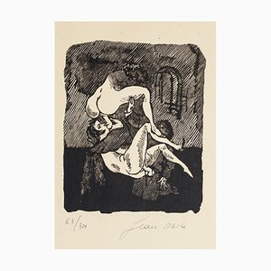 Erotische Szene - Original Holzschnitt von Mino Maccari - 1944 1944