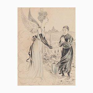 Komposition - Original China Tinte und Pastell auf Papier - Frühes 20. Jahrhundert Frühes 20. Jahrhundert