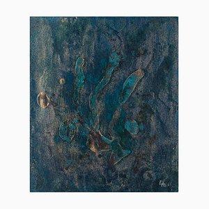 Blue Composition - Original Mixed Media von Esy A. Belluzzi - 1963 1963