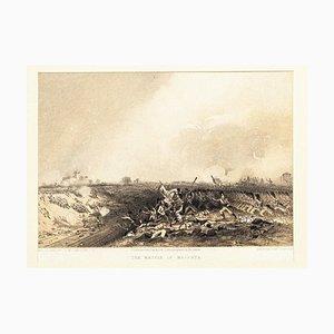 The Battle of Magenta - Original Hand Colored Lithograph by Carlo Bossoli - 1854 1854