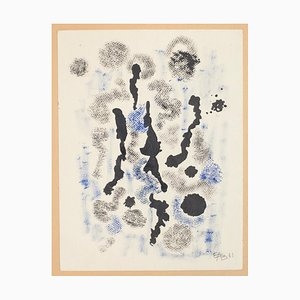 Abstract Composition - Original Mixed Media by Esy A. Belluzzi - 1961 1961