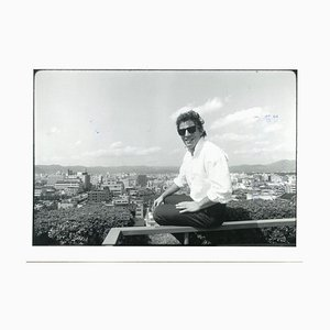 Portrait of Bruce Springsteen by Neal Preston - Vintage B/w Photo - 1985 1985