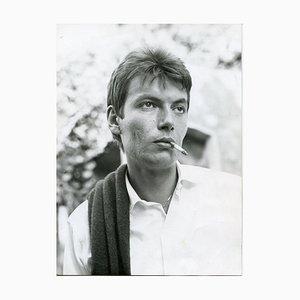 Retrato de Fabrizio De André - Foto B / N vintage - años 60 años 60