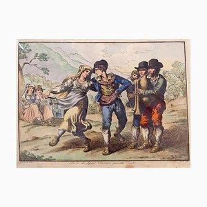 Ballo di Sposi Ciociari - Radierung von Bartolomeo Pinelli - 1820 1820