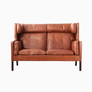 Highback Leather Sofa by Børge Mogensen for Fredericia