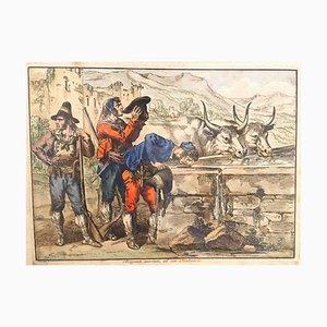 Briganti Assetati - Etching by Bartolomeo Pinelli - 1820 1820