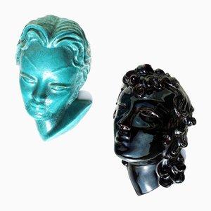 Art Deco Keramikfiguren von GB Desalvo für Casa Dell'Arte, 1920er, 2er Set