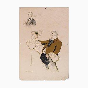 L'Auteur c'est moi - Lithograph by Daniel de Losques - Early 20th Century Early 20th Century