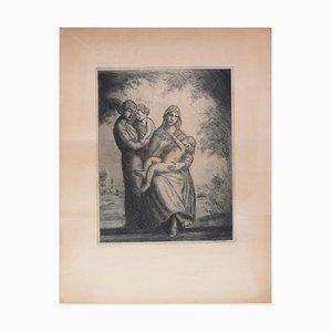 L'Enfance - Original Radierung von J. Donnay - 1950er 1950er