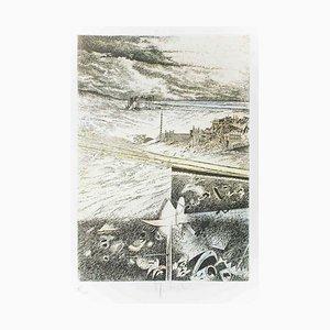 Spiaggia e Soria - Original Etching by Mario Logli - 1986 1986