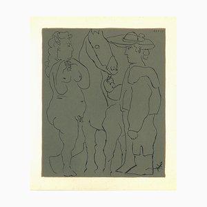 Picador, Femme et Cheval - Original Linocut After Pablo Picasso - 1962 1962