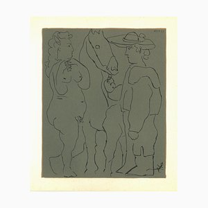 Picador, Femme et Cheval - Original Linolschnitt nach Pablo Picasso - 1962 1962