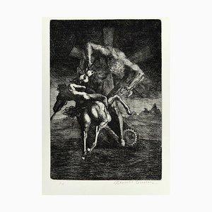 Untitled - Von '' Don Chisciotte '' - Original Radierung von M. Tommasi - 1970 1970