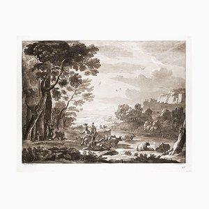 Liber Veritatis - Original B/W Etching after Claude Lorrain - 1815 1815