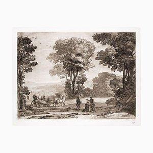 Liber Veritatis - Original B / W Radierung nach Claude Lorrain - 1815 1815