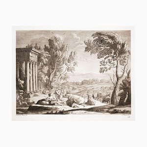 Liber Veritatis - Gravure Originale B / W d'après Claude Lorrain - 1815 1815