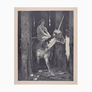 Silence in the Woods - Original Woodcut After J.J. Weber - 1898 1898