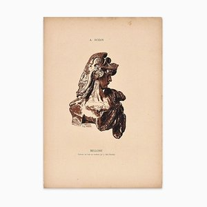 Bellone - Original Woodcut by J. Beltrand After A. Rodin - Early 20th Century Early 20th Century