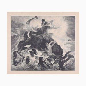 The Neiads - Original Holzschnitt von JJ Weber - 1898 1898