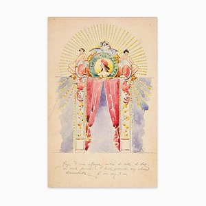Beaulieu Carabacel. Project for Ballroom Entrance - China Tusche & Aquarell Anfang 1900