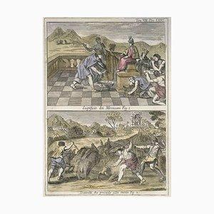 Opfer unter den Mexikanern - Radierung von G. Pivati - 1746/1751 1746-1751