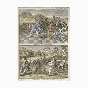 Sacrifice Among the Mexicans - Etching by G. Pivati - 1746/1751 1746-1751