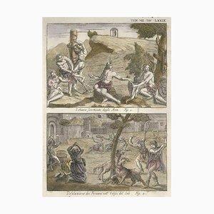 A Slave Flayed, Peruvian's Desolation während einer Sonnenfinsternis - von G. Pivati 1746-1751