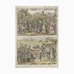 Huly Carnival and Water Party - Etching by G. Pivati - 1746/1751 1746-1751