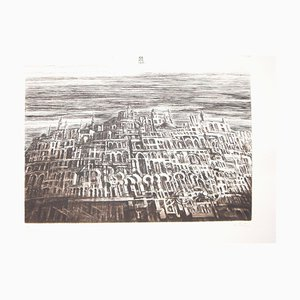 Arab City - Original Radierung von Antonio de Totero - ca. 1980 1980