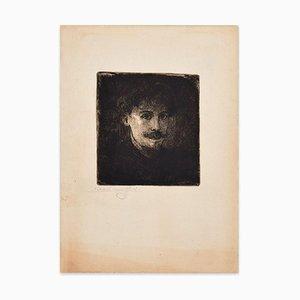 Portrait of Young Man - Original Radierung von E. Van Offel - Frühes 20. Jahrhundert Frühes 20. Jahrhundert