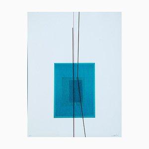 Blue Subject - Original Lithograph by Lorenzo Indrimi - 1970 ca. 1970