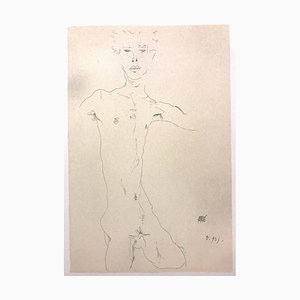Standing Male Nude - 2000s - Lithograph - Modern Art 2007