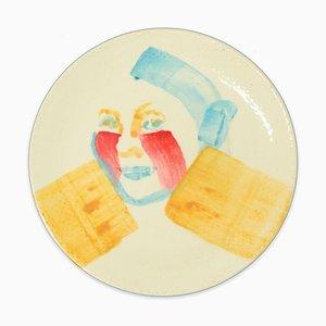 Laila - Original Hand-made Flat Ceramic Dish by A. Kurakina - 2019 2019