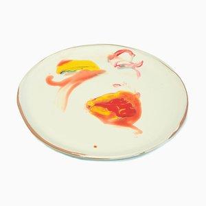 Sight - Original Hand-made Flat Ceramic Dish by A. Kurakina - 2019 2019