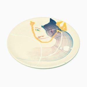 Ice Eyes - Original Hand-made Flat Ceramic Dish by A. Kurakina - 2019 2019