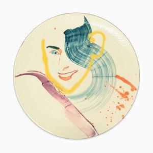 Smiling Woman - Original Hand-made Flache Keramikschale von A. Kurakina - 2019 2019