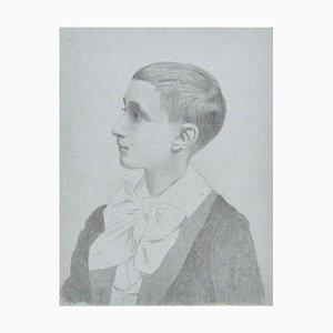 Dibujo de Lápiz escolar original de French Artist, principios del siglo XX, principios del siglo XX
