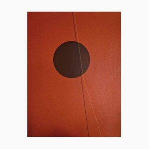Red Six II - Original Lithograph by Lorenzo Indrimi - 1970 ca. 1970