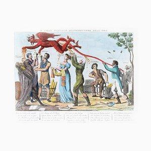 Il Gran Diavolo Distributore dell'Oro - Original Etching 1815-1850 1815-1850