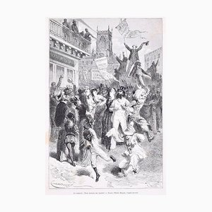 Le Carnaval - Original Holzschnitt Nach Emile Bayard - 1880 1880