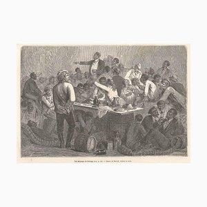 Affiche Les Sénateurs de Kellogg - Gravure sur Bois originale d'après Bertall - 1880s 1880s