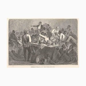 Les Sénateurs de Kellogg - Original Woodcut Print After Bertall - 1880s 1880s