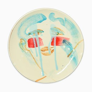 Teardrops - Original Hand-made Flat Ceramic Dish by A. Kurakina - 2019 2019