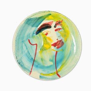 Look at You - Handgemachte flache originale Keramikschale von A. Kurakina - 2019 2019