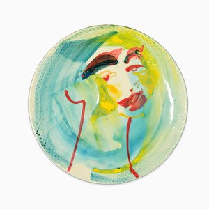 Look at You - Original Hand-Made Flat Ceramic Dish by A. Kurakina - 2019 2019
