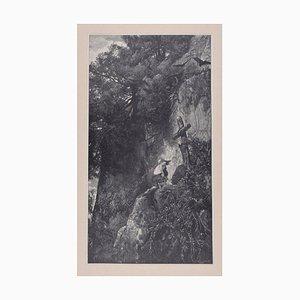 Zentaur In The Smithy - Original Holzschnitt von JJ Weber - 1898 1898