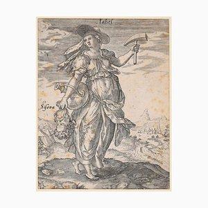 Jale with the Sisera's Head - Original Radierung von M. Greuter 1586