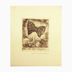 Felicitas / Ans Van der Kuylen - Original Etching by M. Fingesten Early 1900